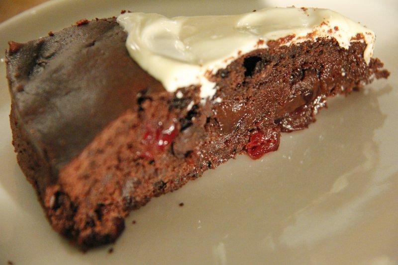 cranberry chocoladetaart