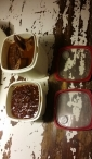 De bonen en short ribs in de bouillon