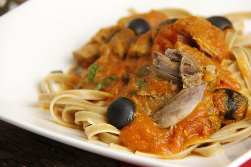 Italiaanse ragu van eend