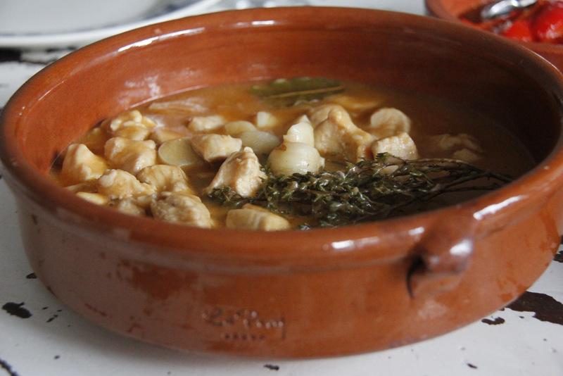 Spaanse kip met knoflook