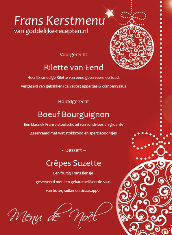 Frans kerstmenu