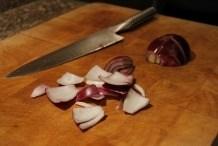 Snijd de uien