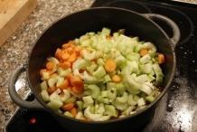 Doe na 3 uur de groenten in de pan