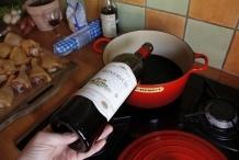 Schenk de wijn in de pan