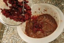 Voeg de cranberry's toe