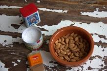 Ingrediënten geroosterde gezouten amandelen