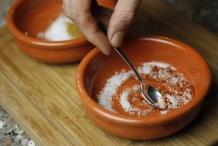 Meng kruiden en zout