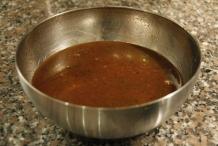 Het eindresultaat: heerlijke saus