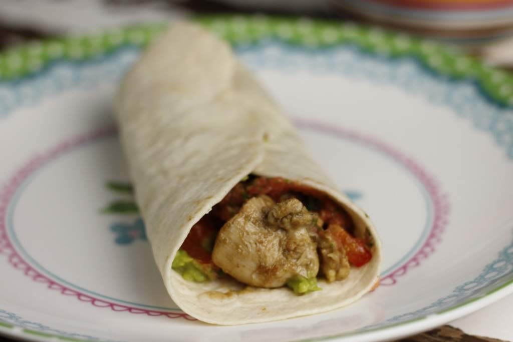 Mexicaanse wraps met kip fajita's