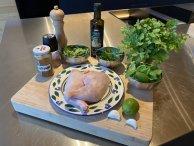 Ingrediënten kippenpoten van de bbq