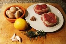 Ingrediënten van overheerlijke biefstuk
