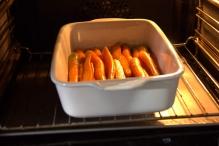 Zet de schaal 25 minuten in de oven
