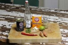 Ingrediënten voor zwarte bonensaus