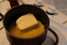 Smelt de boter op laag vuur
