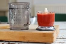 Blend de tomaat uit blik