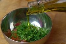 Voeg olijfolie toe
