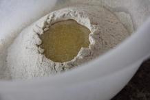 Een krater vol met boter