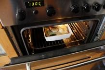 Zet de oven op 130 graden