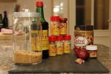 Ingrediënten satésaus (of pindasaus)