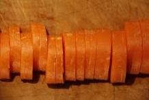 Snijd de wortel