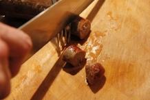 Snijd de worstjes