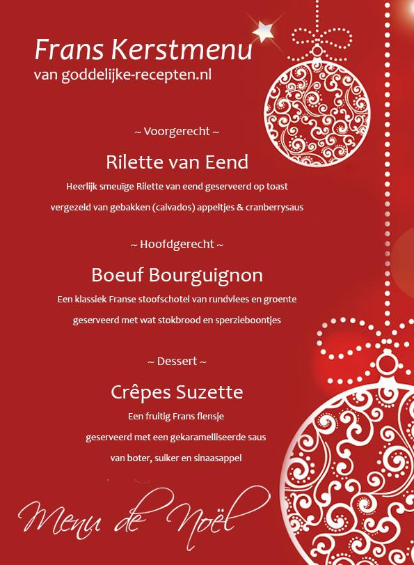 3 gangen kerstmenu recept