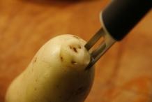 Boor niet helemaal door de aardappel