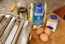 De ingrediënten om zelf pasta te maken